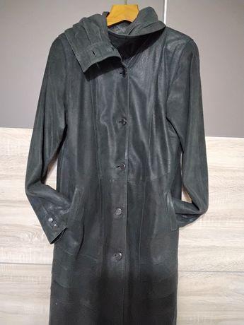 Пальто кожаное, утепленное, лайка. ИТАЛИЯ  раз. 54