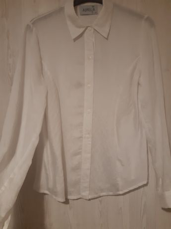 Bluzki białe koszulowe S M