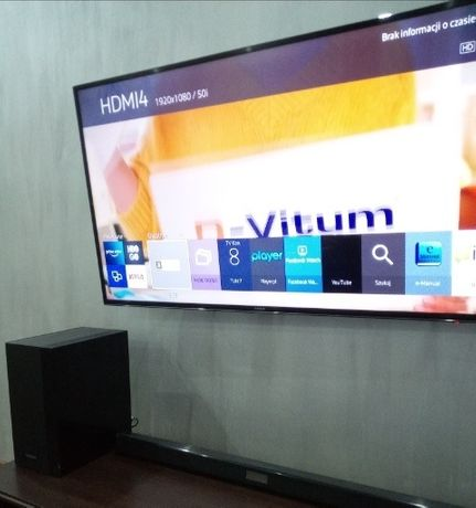 TV Samsung +Soundbar Samsung +wieszak ścienny