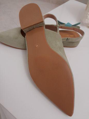 Sandalias em camurca de uma marca portuguesa novas