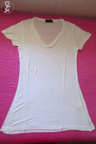T-shirt Lanidor branca com folho