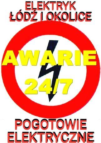 Elektryk-Awarie-Pogotowie Elektryczne 24h/7też święta- CAŁA ŁÓDŹ tanio