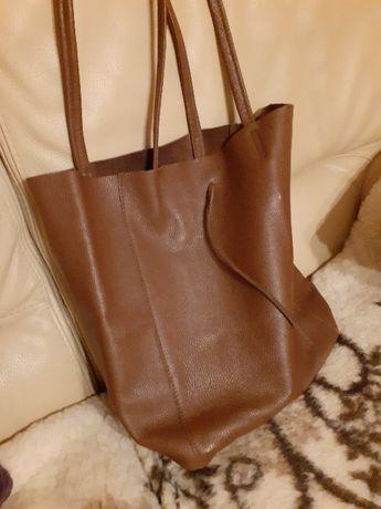 Sprzedam torbę shopper skorzana
