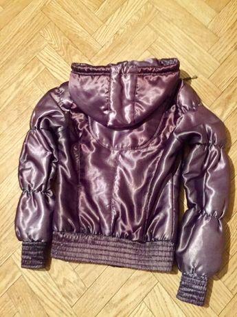 Куртка фиолетовое серебро
