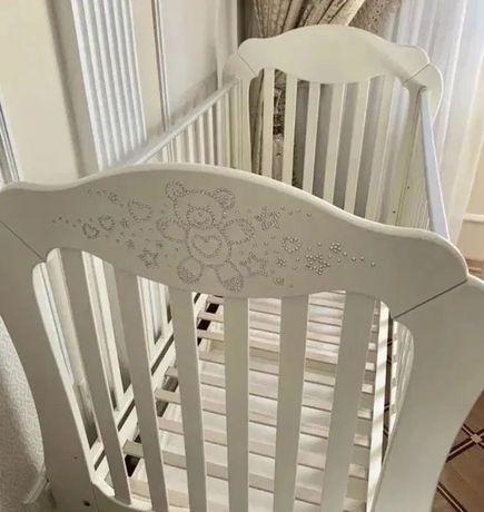 Кроватка Baby Expert Diamante(Италия), +постельный комплект+ матрас