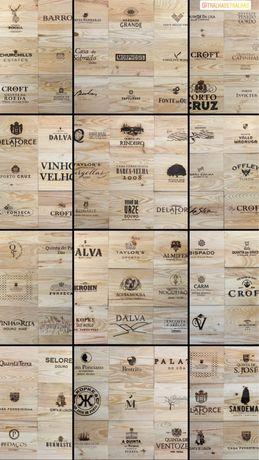 Tampas de madeira com marcas de vinhos vintsge!