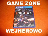 Resident Evil 3 PS4 + Slim + Pro = PŁYTA PL Wejherowo