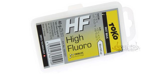 Smar zawodniczy HF na gorąco - żółty 40g TOKO (High Performance)
