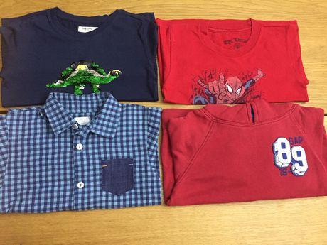 Koszula flanelowa bluza gap koszulka cekiny 98.104