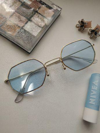 Имиджевые очки с синими стёклами