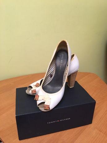 Hilfiger женские кожаные туфли с открытым носком оригинал
