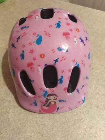 Kask rowerowy, na rolki, hulajonogę, dziewczęcy różowy rozmiar S