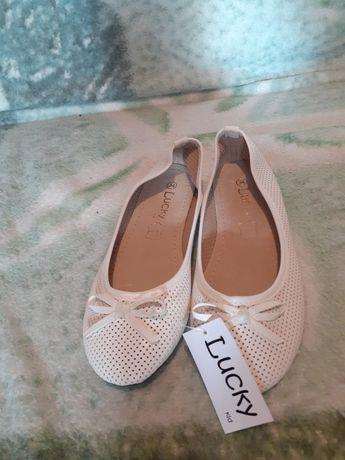Białe balerinki rozmiar 34