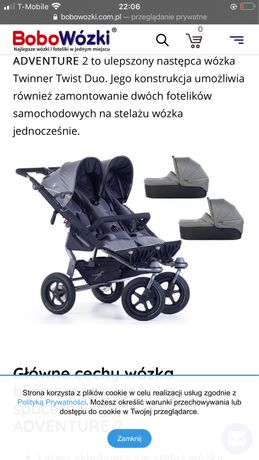 TFK TWIN ADVENTURE 2 wózek bliźniaczy 3w1