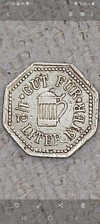 Stary żeton na piwo  Browar na zamku Mering