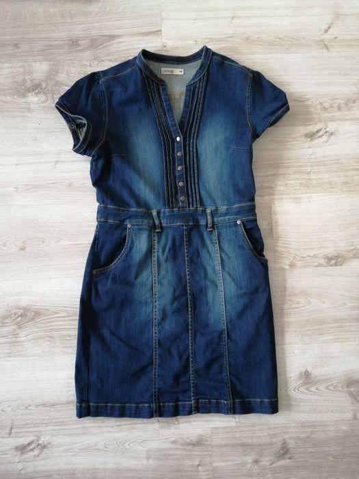 Sukienka jeans r. 40 Lidzbark Warmiński - image 1
