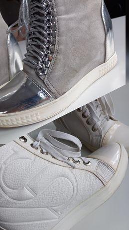 2× Sneakersy adidasy buty sportowe za kostkę 37