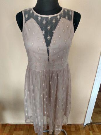 Sukienka beżowa śliczna