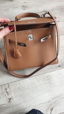 Hermès сумка Kelly 24 см натур кожа премиум