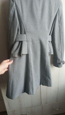 płaszcz płaszczyk kurtka szary szarość