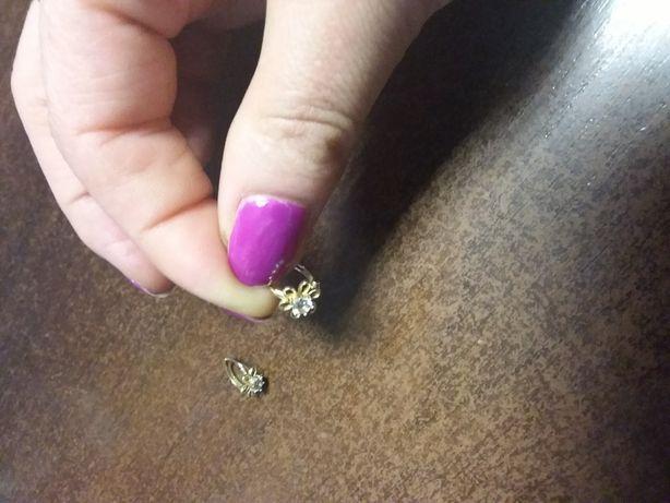 Kolczyki złote 585 kwiatki
