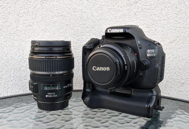 Canon EOS 600D + 17-85 IS USM + 50 1:1.8 + GRIP Etui Amazon Basics
