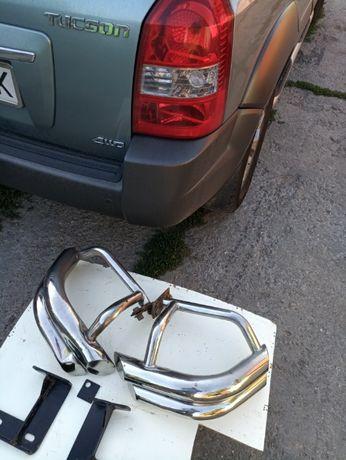 Боковые защитные дуги заднего бампера Hyundai Tucson б/у