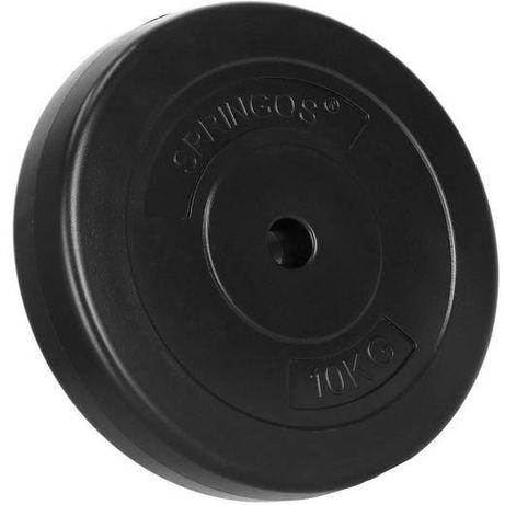 60kg zestaw obciążenie bitumiczne talerze 6x10kg z gryfem 120cm 25mm