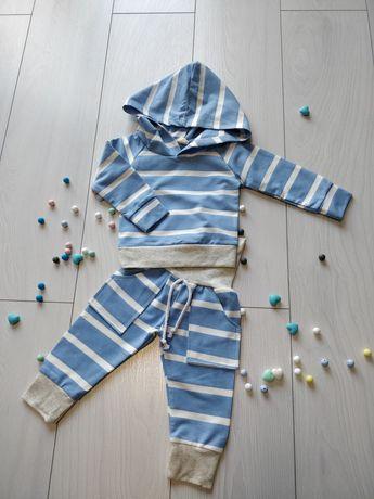 Dres niemowlęcy różowy i niebieski, dziewczęcy i chłopięcy