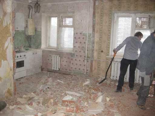 Демонтаж квартир, зданий