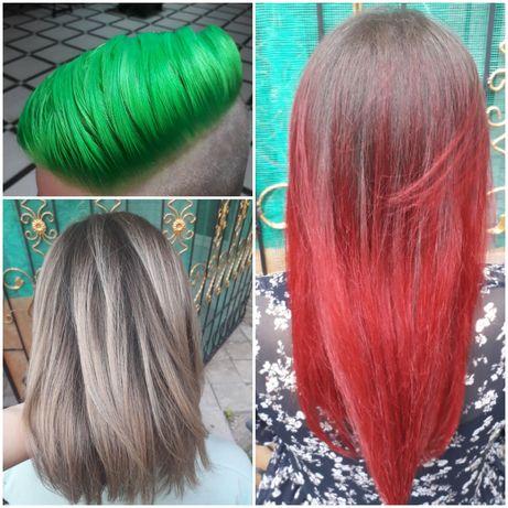 Стрижка, окрашивание волос, омбре, балаяж, аиртач, мелирование