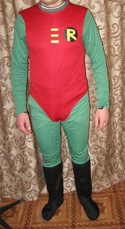 карнавальный костюм супер героя Робина для аниматора юные титаны впере
