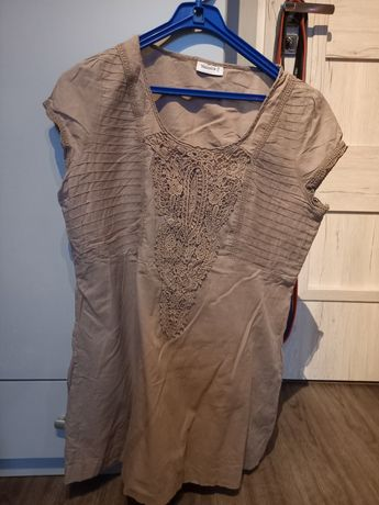 Bezowa bluzka damska r 44