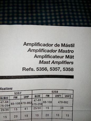 Televes Amplificador de MATV 1E/1S BI/FM/BIII/UHF - 5356