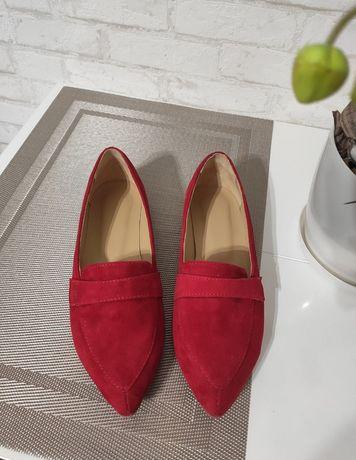 Кожаные лоферы туфли ,37 размер