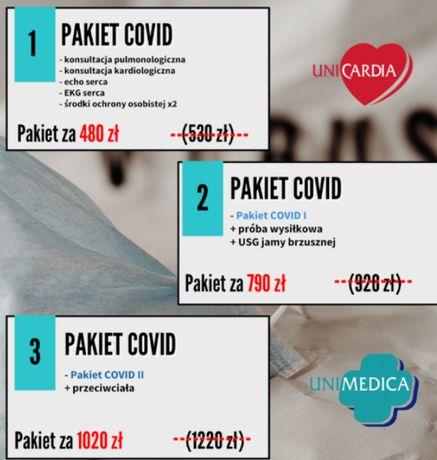 Pakiet badań medycznych po przejściu COVID-19. Maseczka gratis
