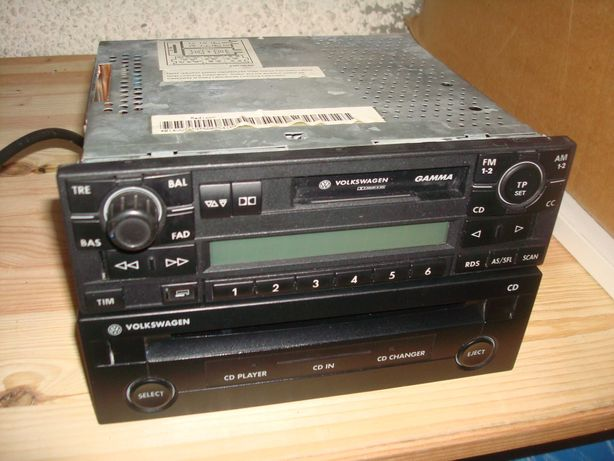 VW Polo GTI - Auto-rádio original GAMMA e leitor de CD's