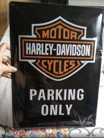 Placa decorativa harley davidson