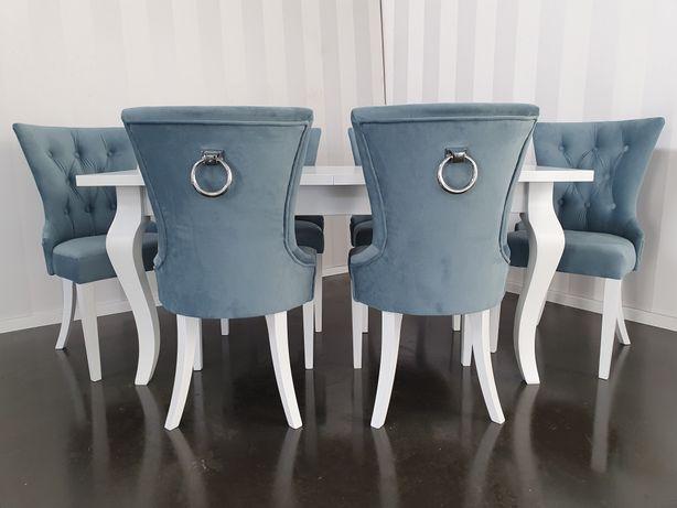 Krzesło z kołatką nowoczesne welur velvet tapicerowane