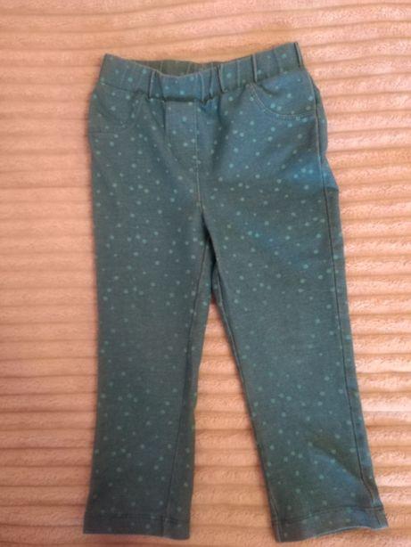 Лосіни на дівчинку в горошок зроблені під джинс. Штани для девочки