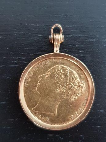 Libra em ouro Rainha Vitória ano (1842)