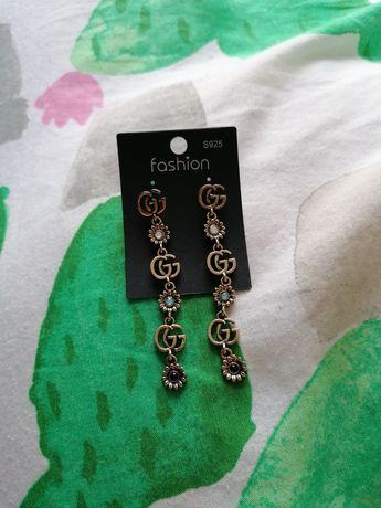 Kolczyki wiszące w stylu Gucci próba 925