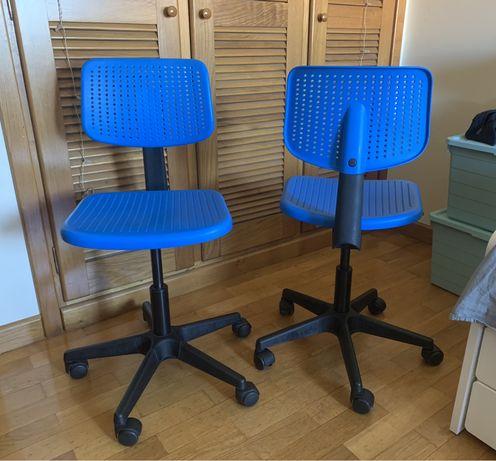 2 cadeiras de escritório de criança Ikea