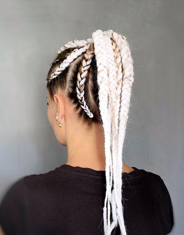 Плетений кос на разную длину волос