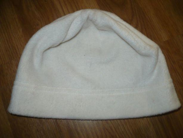 Шапка белая флисовая S M