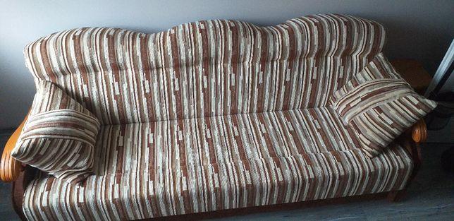 komplet wypoczynkowy kanapa 2 fotele 2 pufy