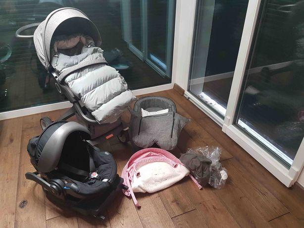 Wózek STOKKE XPLORY V5 3w1 BeSafe+baza Isofix+summer kit+śpiworek