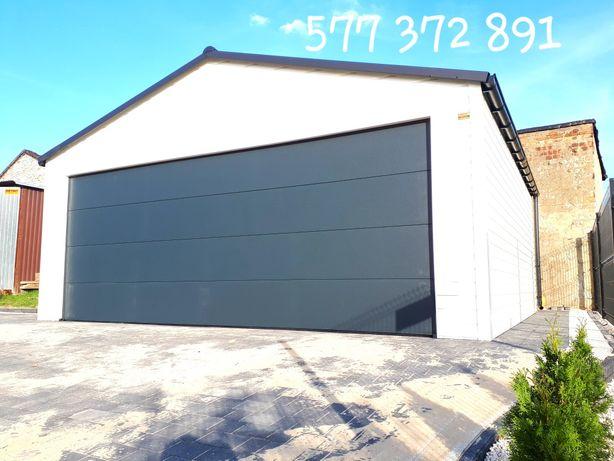 Garaze blaszane Brama Segmentowa Garaż drewnopodobny Nowoczesny garaz