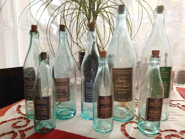 Butelki wódka spirytus przedwojenne