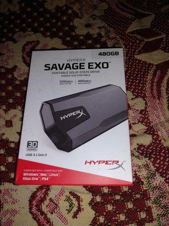 Kingston SSD HyperX Savage EXO 480GB USB 3.1 Type-C 3D NAND TLC новый